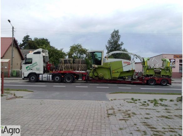 Transport sieczkarni do kukurydzy Claas Jaguar, John Deere, Mengele, New Holland
