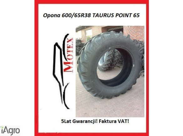 Promocja! Opona 600/65R38 TAURUS Nowa FV zam 520/70R38 18,4R38 18,4-38