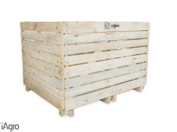 Skrzyniopalety drewniane składane na ziemniaki, warzywa